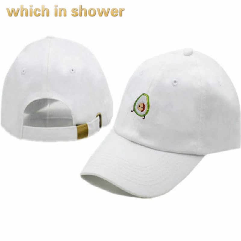 6db3b742a41 Avocado Dad Hat For Women Fruit Embroidery Men Baseball Cap Hip Hop  Unstructured Snapback Hat Male