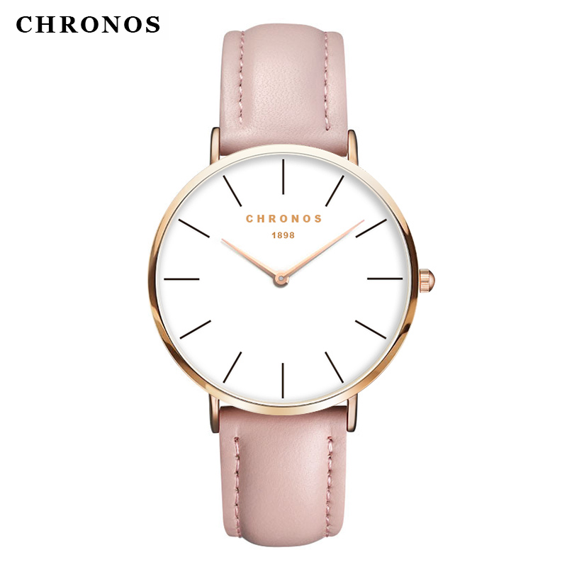 Luxury Watch Men CHRONOS Unisex Wristwatch Top Brand Rose Gold Quartz Male Female Clock Relogio Masculino
