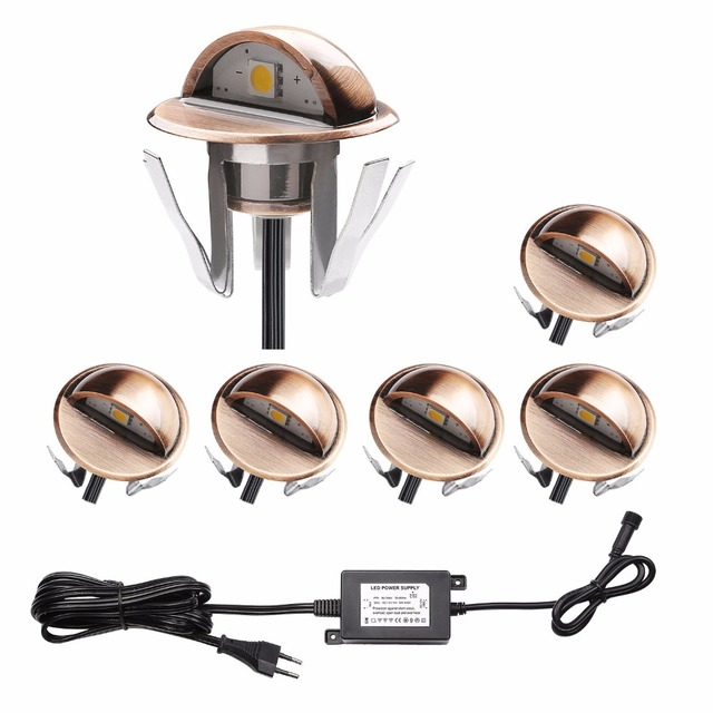 Qaca Half Moon Smd5050 Led Stair Lights Low Voltage Outdoor Recessed Landscape Pathway Step Stair