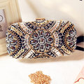 2016 Fashion Day Clutch Hand-beaded Evening bags clutch Party Wedding bride Diamond Rhinestone Purse Banquet shoulder bags Li239