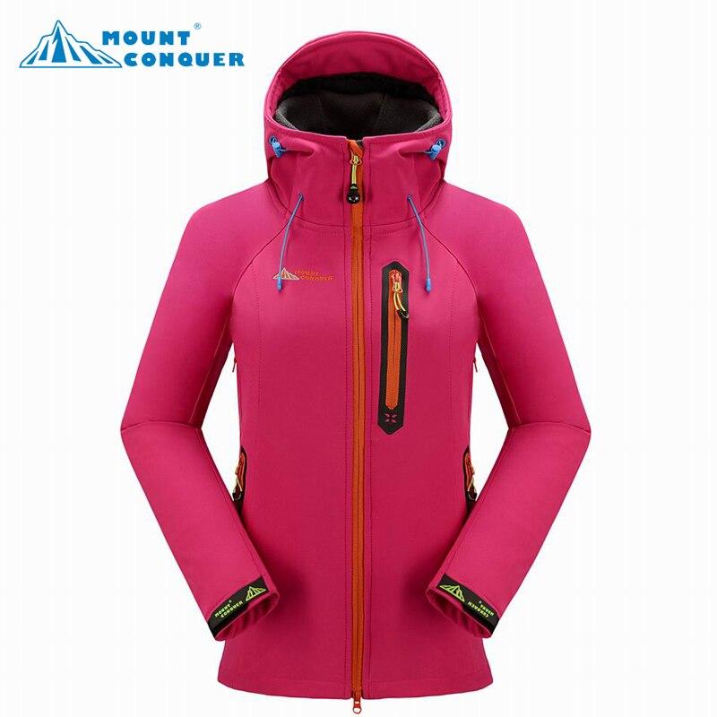 Nouvelles femmes vestes de randonnée en plein air softshell windstopper imperméable à l'eau chaud coupe-vent de haute qualité livraison gratuite