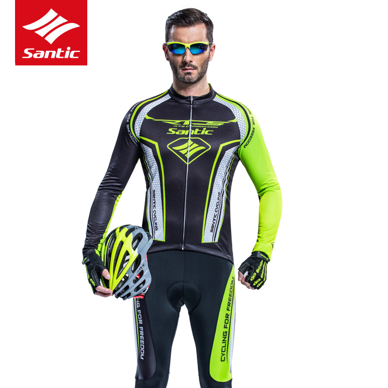 Santic Men Cycling Jersey Set 2017 Pro Team Long Sleeve Cycling Set 4D Padded MTB Road Bike Bicycle Jersey Cycling Clothing santic rts team athletics cycling jersey 2016 upf40 quick dry breathable 4d padded mtb bicycle bike jersey long sleeve skinsuit