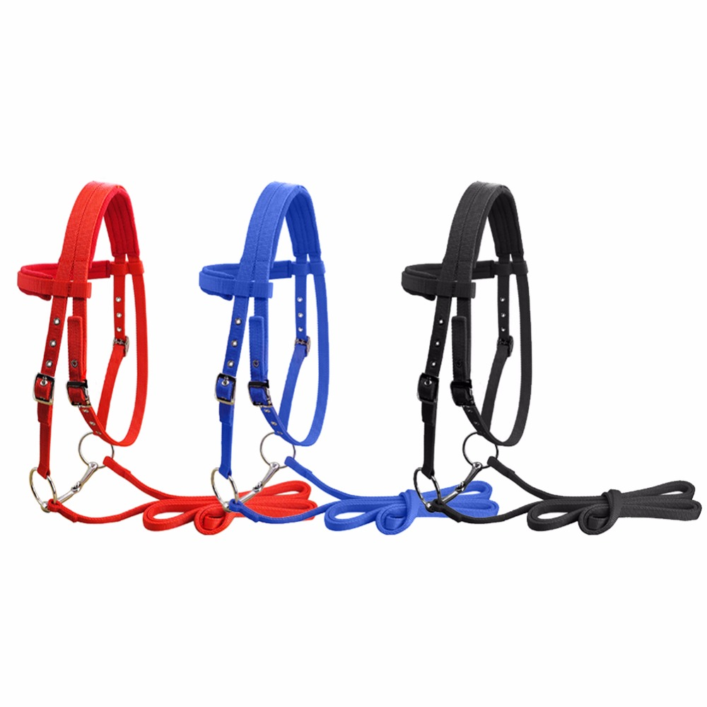 Adjustable Soft Horse Riding Equipment Halter Horse Bridle With Bit and Fixed Rein Belt For Horse Equestrian Accessories #279731 аккумулятор dji spark li po 11 1в 1480мач part 3