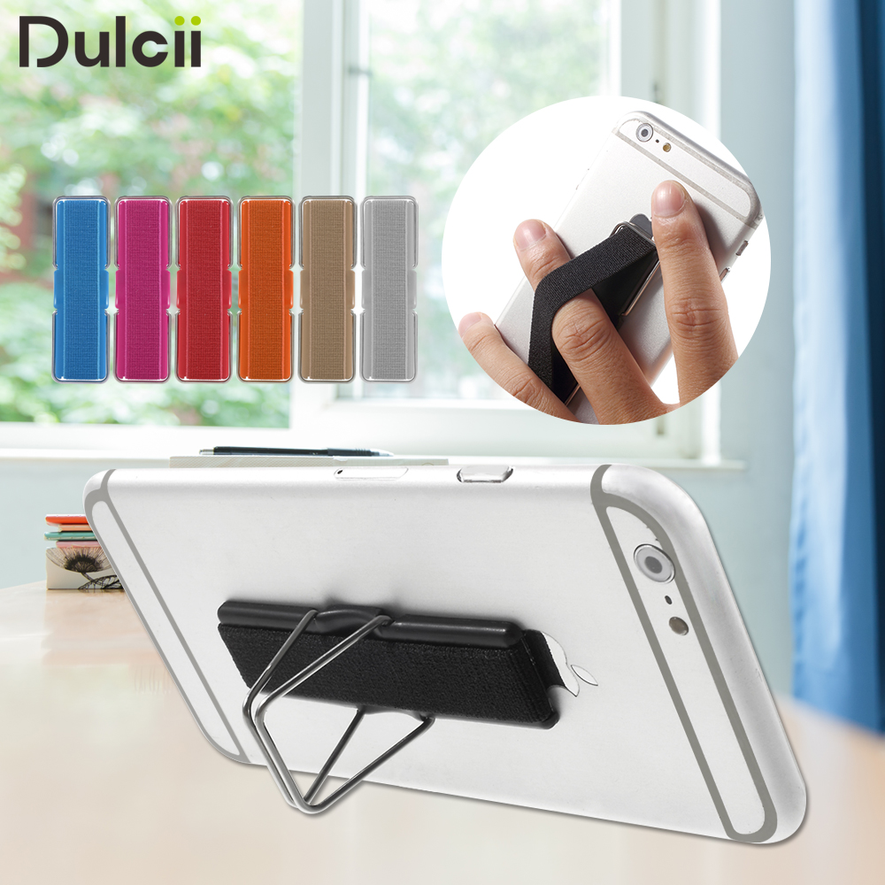 Dulcii Universal Phone Holder for iPhone Samsung Mount Tablets Cool Finger Grip with Free Hook for Car Using Phone Stand Holder