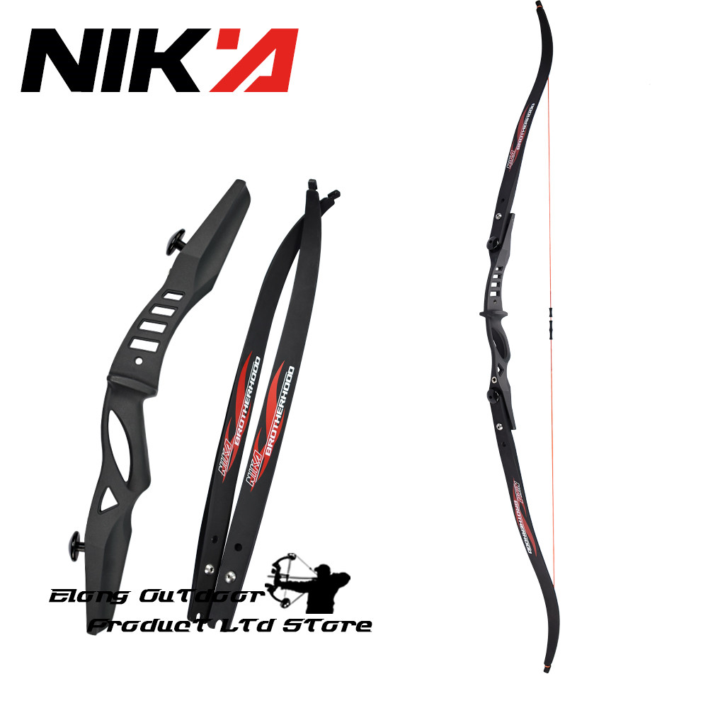 ELONG Takedown ILF Recurve Bow Archery 15-25 LBS Youth Beginners Child Game Bow Set Right Left Hand Black ET-2 Free Shipping кроссовки elong elong el025ambadw1