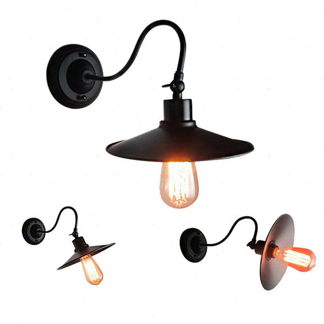 Retro creative adjustable direction wall light Vintage Iron Industrial Wind E27 Wall Lamp for Warehouse Restaurant Coffee Shop
