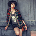 Luck Dog Women Slim Floral Outwear Trench women basic coats down coat women chaquetas mujer bomber jaqueta feminina