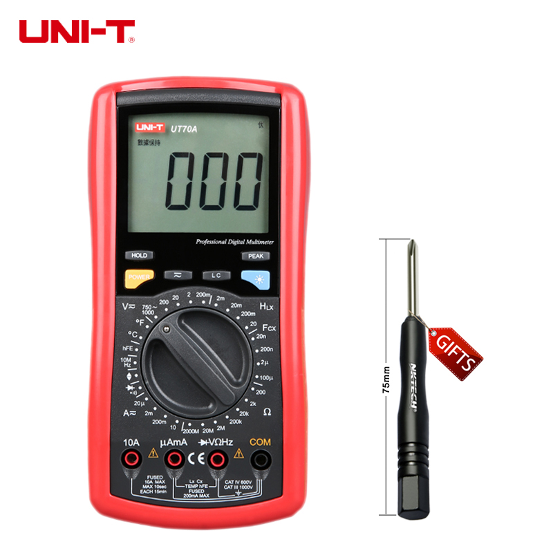 ФОТО Uni-t UT70A UT-70A Modern Digital multi-purpose multimetro AC / DC temperatura de diodo Transistor