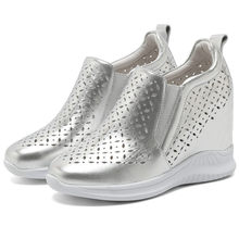 Breathable Punk Tennis Sneakers Womens Cow Leather Wedges High Heel Ankle Boots Outdoor Trainers Platform Oxfords Summer Sandals
