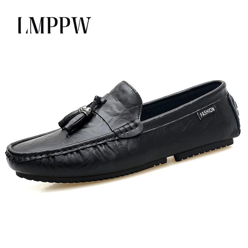 yellow Mocassins Chaussures Yellow 1 2 1 black Nouveau Mode Respirant De Cuir Hommes En 2 Glissent Noir 2018 Souple Plat Sur 8 black Jaune Semelle Gland ExwqwCUYB