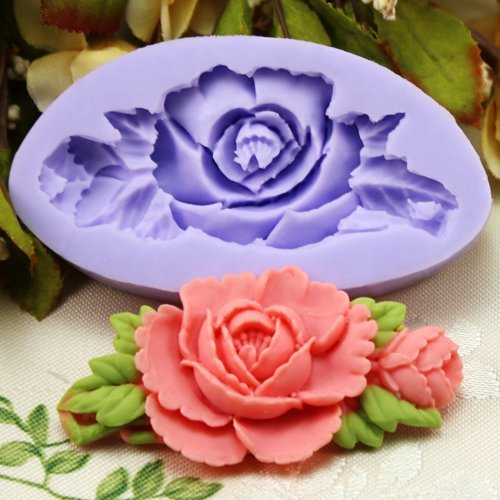3D Silicone resin Rose flower chocolate candy Molds Soap Ice mold
