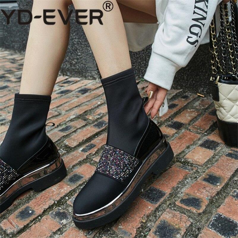 Hiver Talons Yd Boots Bottes Boots ever high Bling Haute Partie Danse Qualité Chaud Bal Genou Chaussures Bout De Femmes Automne Short Rond qwYrq18