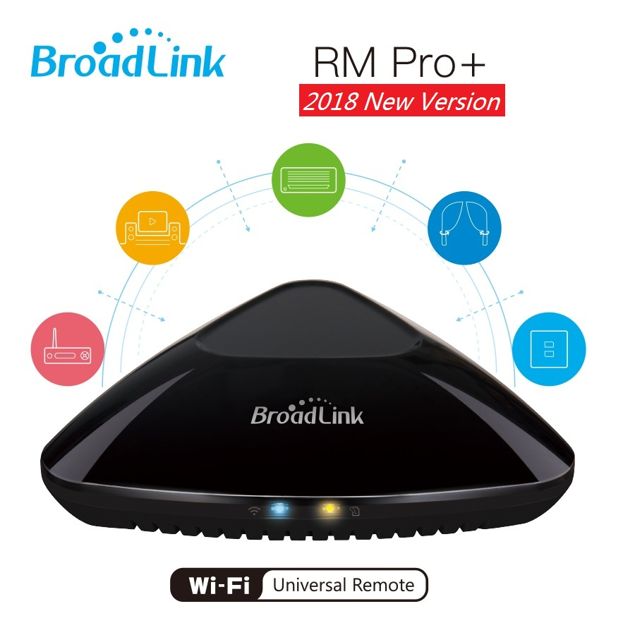 2018 New Version Broadlink RM Pro+ Smart Home Automation Intelligent Universal  WIFI+IR+RF switch Remote Controller new ltech wifi ir rf universal intelligent remote smart home automation control for iphone ios android xiaolei wifi remote