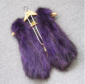 Жилет из натурального меха енота, женский жилет из лисьего меха, короткий дизайн, повседневное пальто из натурального меха, меховая верхняя одежда градиентного цвета - Цвет: 6