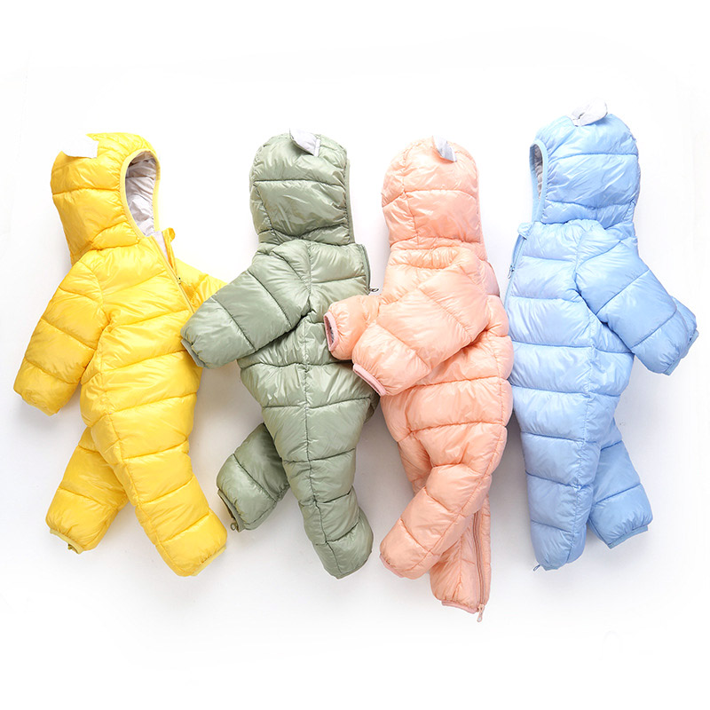 Child Baby Winter Autumn Boy Girl Outerwear Snow Wear Hooded Warm Casual Kids Newborn 0-24M Coats Romper Newborn Snow Wear Coats(China)