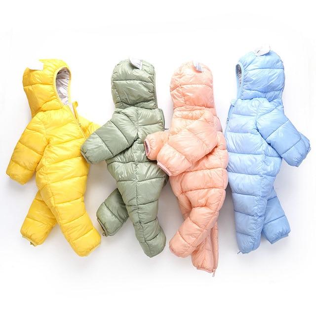 Child Baby Winter Autumn Boy Girl Outerwear Snow Wear Hooded Warm Casual Kids Newborn 0-24M Coats Romper Newborn Snow Wear Coats