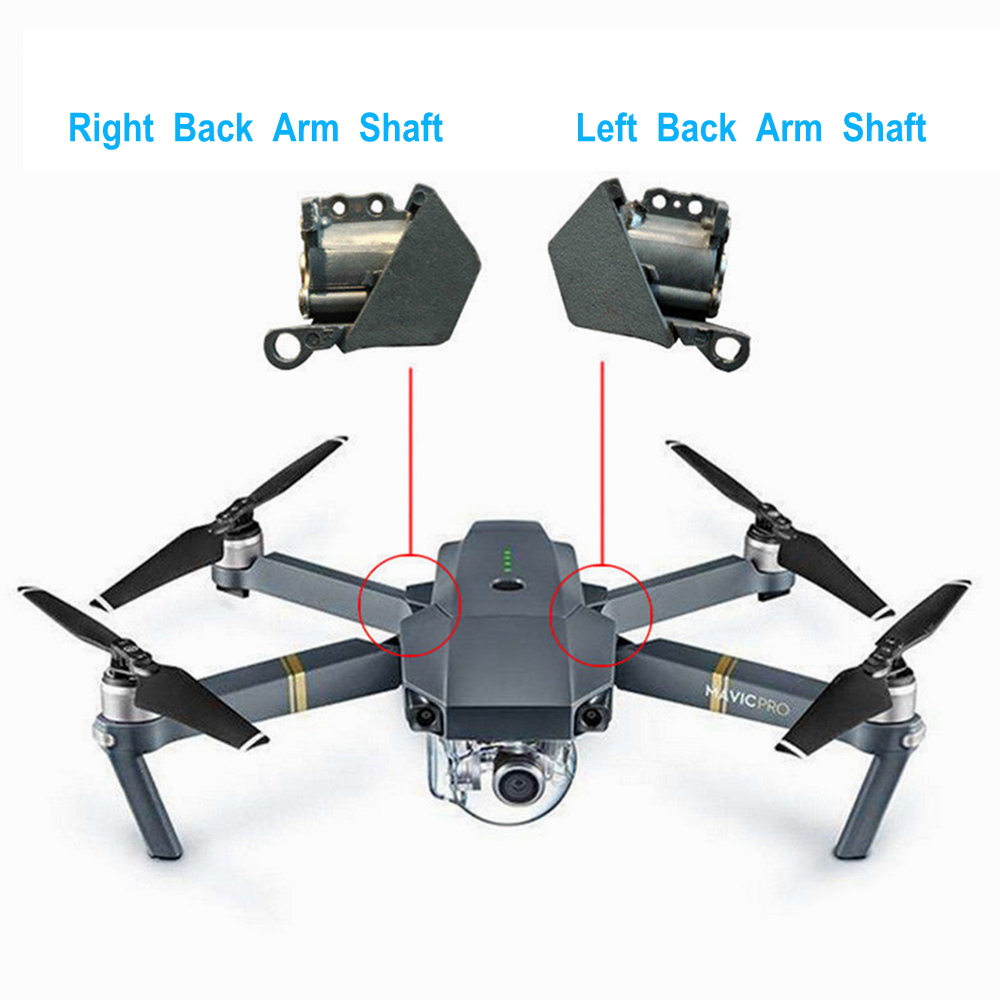 Replacement DJI Mavic Pro Left Right Back Arm Shaft For DJI Mavic Pro Axis Rear Arm Rotating Shaft Gear Cover Repair Accessories