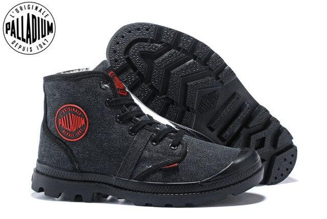 PALLADIUM Pampa płótno pluszowe buty zimowe ogrzewanie mężczyźni Botas kowbojskie botki moda w stylu Vintage płótno obuwie rozmiar 39 45