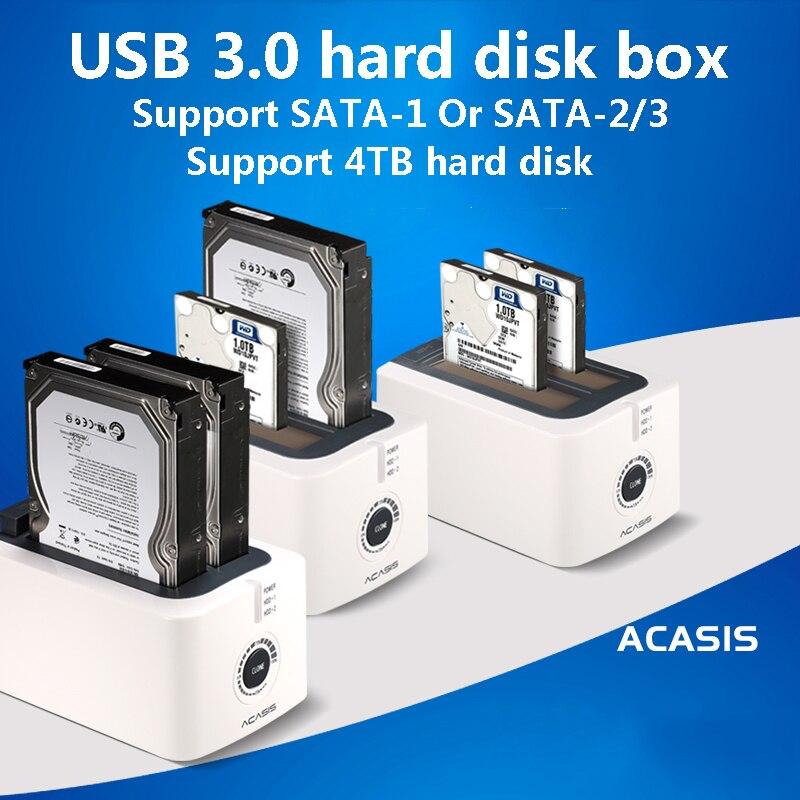 ACASIS BA-12US USB 3.0 SATA3 disque dur Station d'accueil pour 2.5 pouces ou 3.5 pouces HDD boîtier de clonage duplicateur - 3