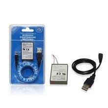 Fikida 2000 mah Pack + USB Cabo do Carregador de Bateria PS4 Dualshock4 Baterias Para Sony Gamepad controlador Sem Fio Recarregável