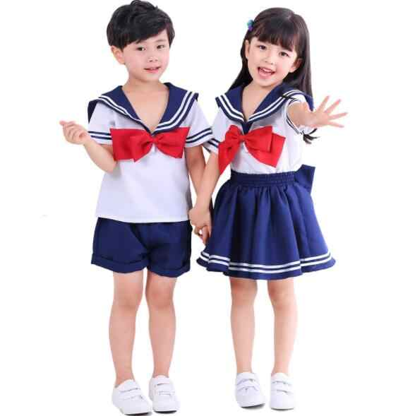 ab368f955acd4 fashion cute Halloween Cosplay Costume Japanese Anime Kid Baby Girls Cute  Boy Girl School Uniform Sailor
