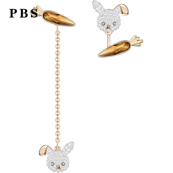 PBS Original Copy High Quality 1:1 SWA Radish Rabbit Plated With Gold Ear Hanging Logo Free MailPBS Original Copy High Quality 1:1 SWA Radish Rabbit Plated With Gold Ear Hanging Logo Free Mail