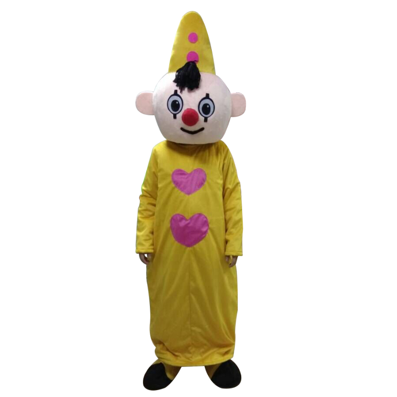 Yellow Hat Boy Mascot Costume bumba mascot costumes for adult size for Halloween party event