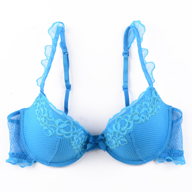 Victoria's Masquerade Women's Push Up Bra Sexy Lace Mesh Panels Girls Puberty Small Size Padded BH Beauty Straps