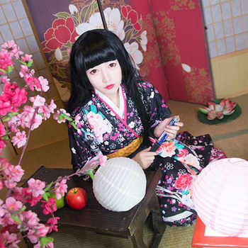 Japanese Style Women Kimono Classic Girl Cosplay Costume Traditional Print Flower Yukata Dress Vintage Haori Geisha Clothing