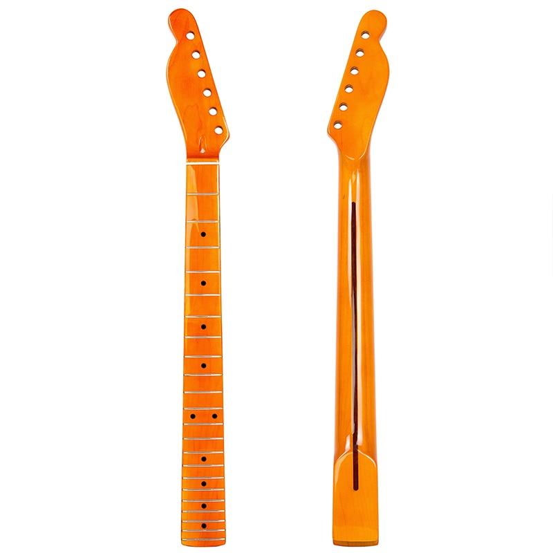 buy maple guitar neck left for electric guitar neck parts black dot yellow 22. Black Bedroom Furniture Sets. Home Design Ideas