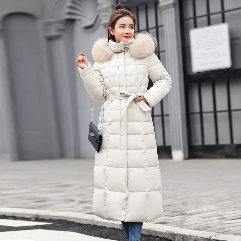 X-Long 2019 New Arrival Fashion Slim Women Winter Jacket Cotton Padded Warm Thicken Ladies Coat Long Coats Parka Womens Jackets 4