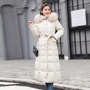 Image 4 - X ロング2019新着ファッションスリム女性の冬のジャケット綿パッド入り暖かい厚みコートコートパーカーレディースジャケット