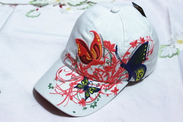 14d4bd50e US $6.47 39% OFF|xthree High quality baseball hat cap Butterflies and  flowers embroidery cotton caps Casual hats snapback cap fashion for  women-in ...