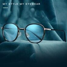 Handoer S626 Full Rim Optical Glasses Frame Vintage Eyewear Spectacles Glasses Optical Prescription Frame Flexible TR 90 Eyewear