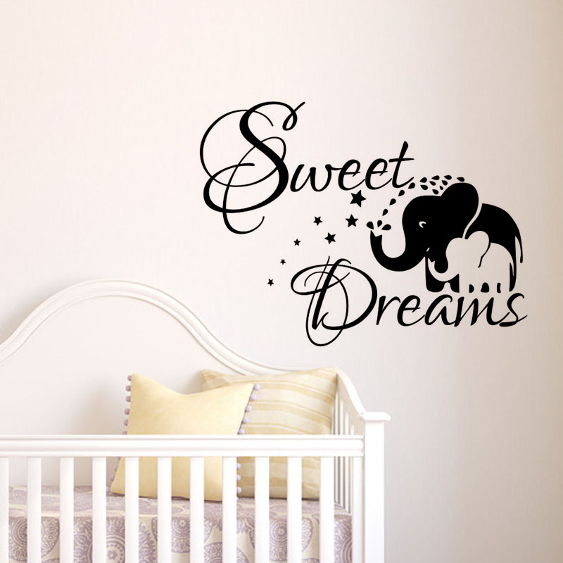 Sweet Dream Wandaufkleber Kinder Schlafzimmer Dekoration Elefant - Wohnkultur - Foto 1