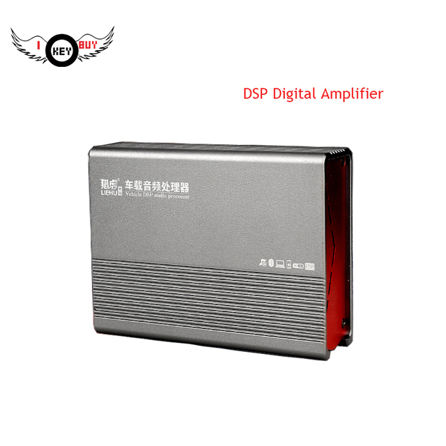 4 CH Car Lossless DSP Digital Amplifier 200W Max 4 Ohm Stable Class D Built in Bluetooth Full Range Power Amplifiers