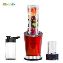 300W Portable personnel Mini mélangeur mélangeur de nourriture Milkshake presse agrumes BPA gratuit 600ml Sport bouteille en option 100ml broyeur et 400ml tasse
