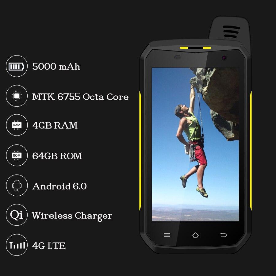 Original SERVO B6000 MTK6755 Octa Core 4G 64GB Android 6.0 OS 13MP 5000mAh IP68 Handy Unterstützung Wireless walkie Talkie 4,7 - 3