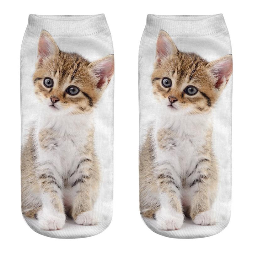 Unique design Cat 3D Printing Socks Cute Women Work Business Cotton Funny Sock Medium Sports Socks Comfortable #2s29 (2)