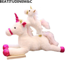 New Dreamy Large Unicorn Plush Toy Stuffed Animal Horse Pillow Toys for Children Christmas Gifts Home Decoration
