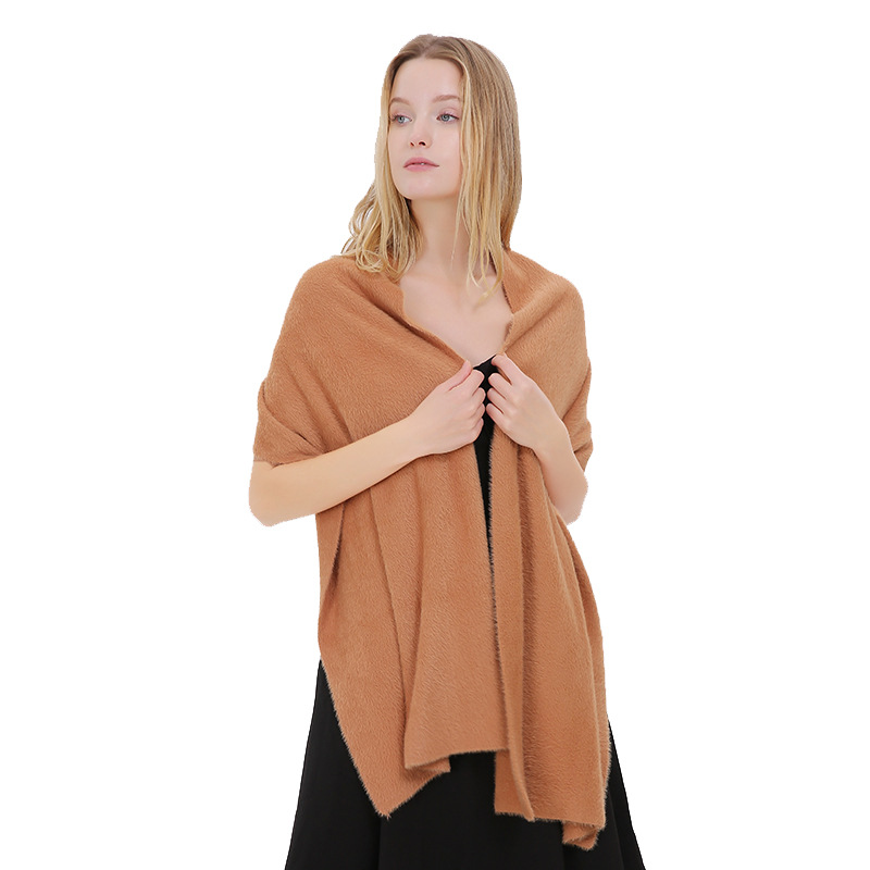 SC269 Luxury Solid Scarf 2018 Autumn Winter Female Thick Ring Women Pashmina Tassel Fashion Warm Velvet Evening Dress Shawl in Women 39 s Scarves from Apparel Accessories