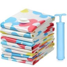 Compresión de vacío de bolsas de almacenamiento para ropa de vacío de plástico de embalaje de tamaño reducido de viaje bolsa de equipaje bolsa de almacenamiento casa organizador