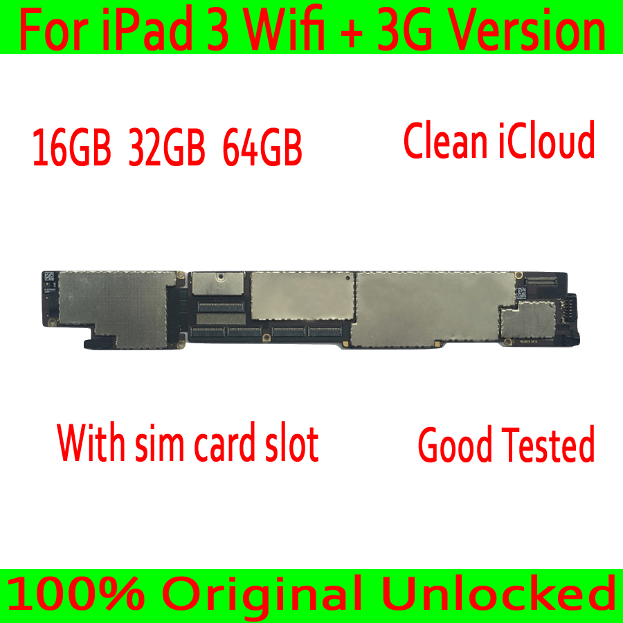 Wifi+3G Version for iPad 3 Motherboard 16GB / 32GB / 64GB,Original unlocked for iPad 3 Wifi+3G Version Mainboard with IOSWifi+3G Version for iPad 3 Motherboard 16GB / 32GB / 64GB,Original unlocked for iPad 3 Wifi+3G Version Mainboard with IOS
