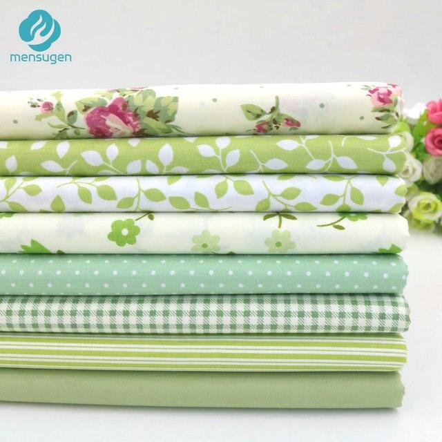 8 cái/lốc 40 cm * 50 cm Màu Xanh Lá Cây Bông Vải đối May Chắp Vá Quilting Búp Bê Vải Handmade Vá Chất Liệu Telas để Chắp Vá