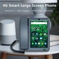 Inteligente 4g sem fio grande tela telefone android 6.0 kaer língua internação e aplicativos de controle remoto telefone inteligente