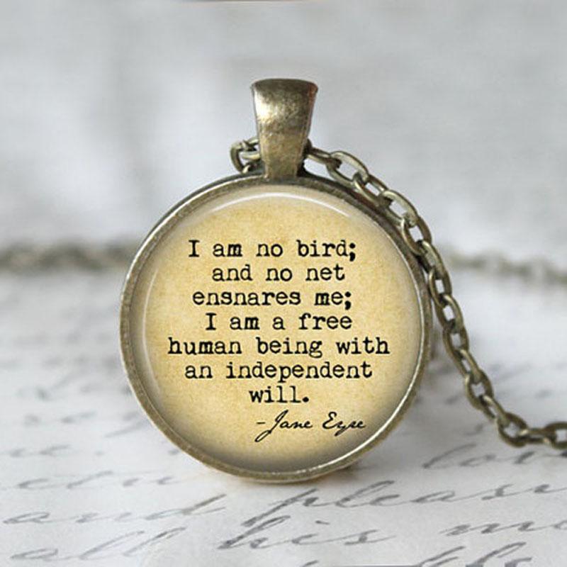 Us 1 59 Jephne I Am Nessun Uccello Io Sono Un Libero Di Essere Umano Con Un Indipendente Sarà Citazione Collana Charlotte Jane Eyre Libro Della