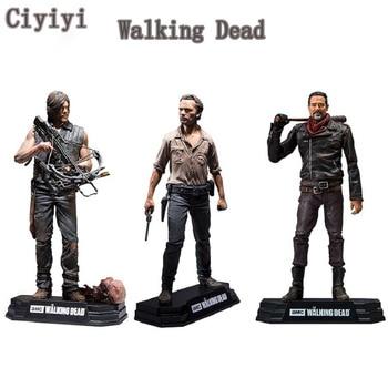 AMC The Walking Dead Rick Daryl Negan PVC figura de acción juguete Walking Dead colección muestra modelo juguetes regalo de Navidad y Halloween