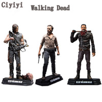 AMC The Walking Dead Rick Daryl Negan PVC Action figure Toy Walking Dead Collection Display Model Toys Christmas Halloween Gift