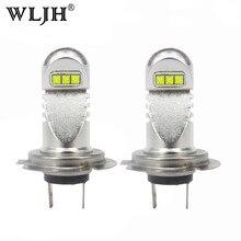 WLJH 2x Beyaz H7 Led Ampul Araba Işık Gündüz Çalışan Işık DRL Sürüş Sis Lambası Ampuller için Ford Infiniti Hyundai honda Chevrolet