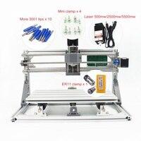 DIY Mini CNC 3018 PRO 500mw 2500mw 5500mw Laser Head Part Mini CNC Machine Pcb Milling Router Carving Machine